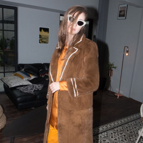 HARD SHOULDER LONG COAT_CAMEL