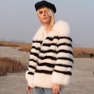 STRIPE FOX JACKET_WHITE