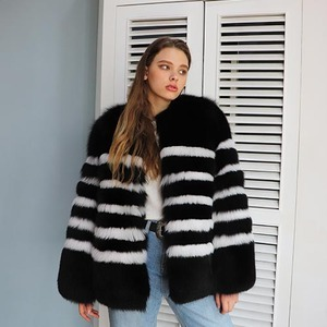 STRIPE FOX JACKET_BLACK