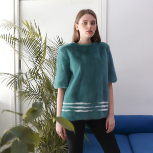 HALF SLEEVE BLOUSE_TEAL BLUE