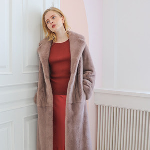 TAILORED LONG COAT_DEEP PINK
