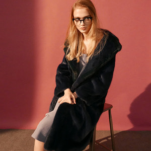 MINK OVERSIZE TAILORED LONG COAT