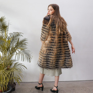 GOLDEN CROSS FEATHER COAT