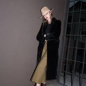 HARD SHOULDER LONG COAT_BLACK