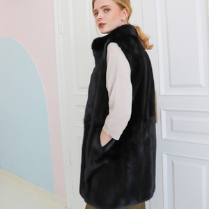 [30% SALE] MINK VEST_BLACK